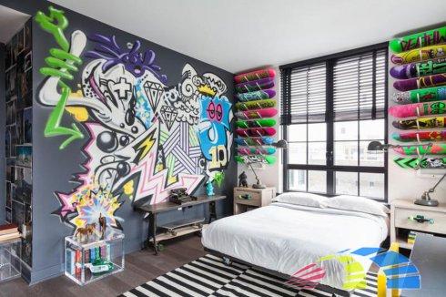креативный интерьер комнаты
