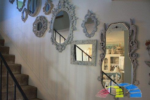 Оформление зеркал в интерьере помещений
