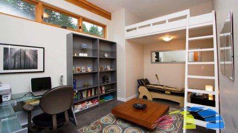 Как спрятать кровать в квартире стиля лофт?