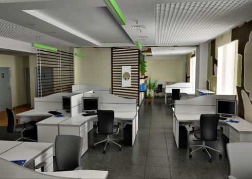 Ремонт офисов под ключ силами компании Statom
