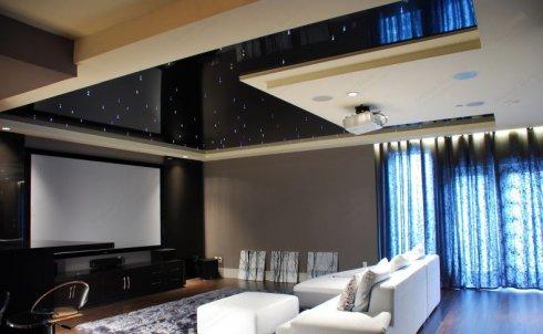 Натяжные потолки в интерьере вашего дома
